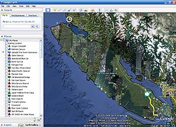 Google Earth Screen Shot - Vancouver Island