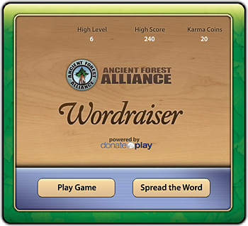 You can try out the new online game to help benefit the AFA while having some fun at www.wordraiser.com